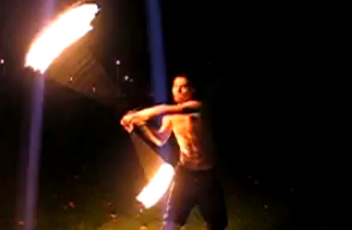 Fire Poi Performance