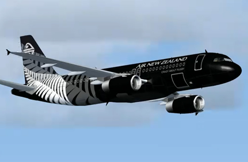 Air New Zealand's All Blacks Livery