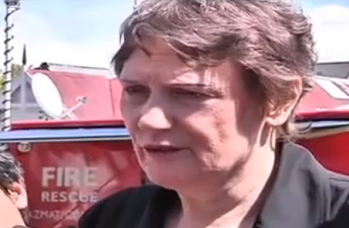 Helen Clark Visits Christchurch Earthquake Site