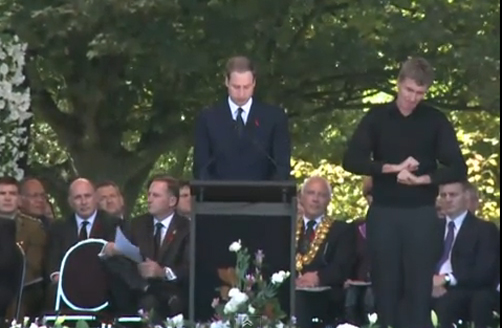 Prince William Speaks at Christchurch Memorial Service
