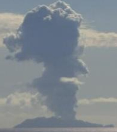 Volcano off the Bay of Plenty Coast Erupts