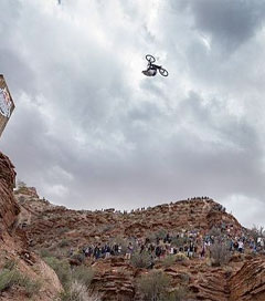 BMX Canyon Leap Just Felt Right so He Sent It