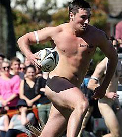 Nearly Naked Aussies Almost Pull One Over Nude Blacks