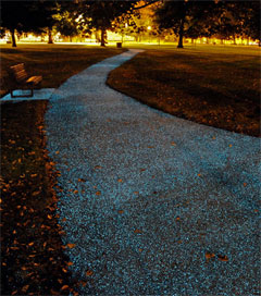 World-First Footpath Lights up the Way