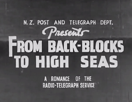 1939 Film: New Zealand Shortwave Communications – Morse code