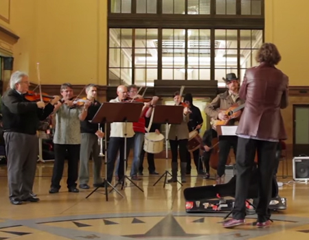 New Zealand Symphony Orchestra Flashmob playing Good for Nothing Soundtrack