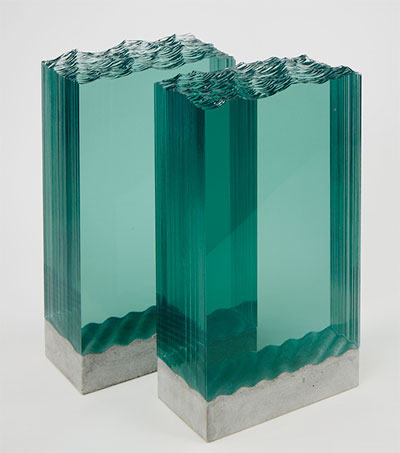 Glass Sculptures Capture Raw Power of the Sea