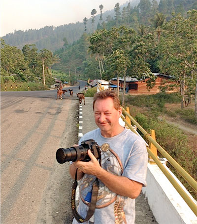 Photographer David Melcalf Travelling Home with Borneo Tribe