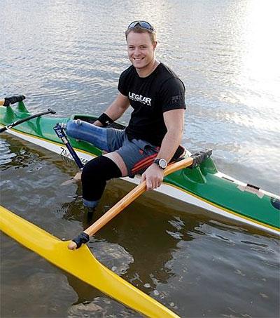 Paracanoeist Curtis McGrath Awarded in Queensland