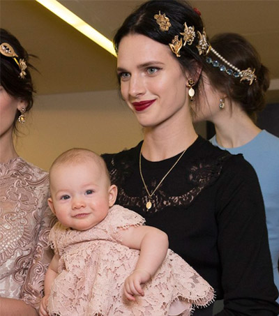 Ashleigh Good in Dolce & Gabbana's Tribute To Mothers