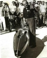 Burt, 1962, after being given the Sportsman of the Year Award in Bonneville- Permission Munro Family Collection