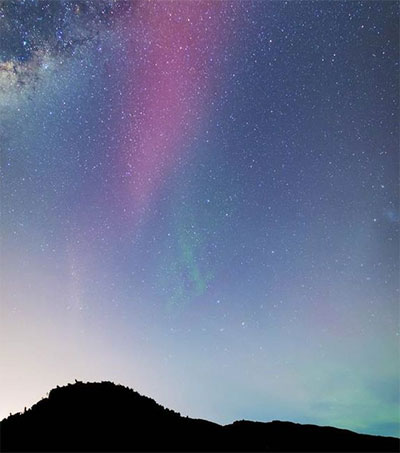 South Island Skies Illuminated by Aurora Australis