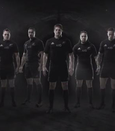 New Zealand Stars Feature in Powerful 'Force of Black' Rugby World Cup Advert
