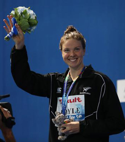 Silver Medal for Lauren Boyle in 1500m Free
