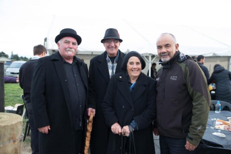 enis, matua Heitia Hiha, whaea Marg Hiha, and Hon Te Ururoa Flavell at Waiohiki July 2015