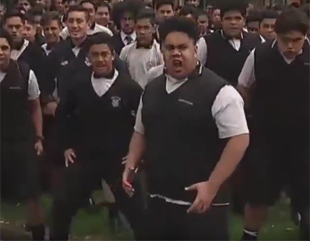 Wesley College Perform Haka in Honour of Jonah Lomu