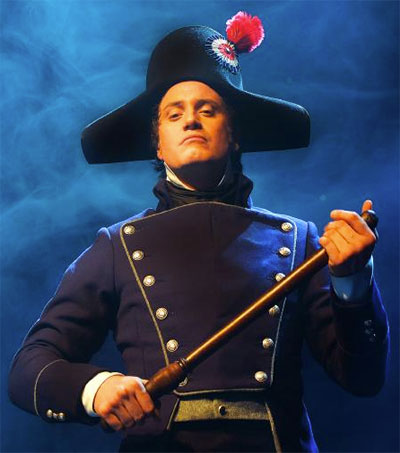 Hayden Tee Menaces as Javert in Les Mis