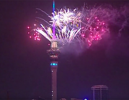 New Year Fireworks in Auckland