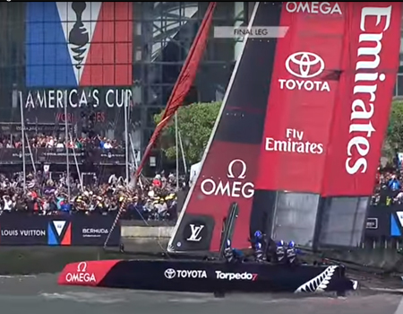 Emirates Team New Zealand Win in New York