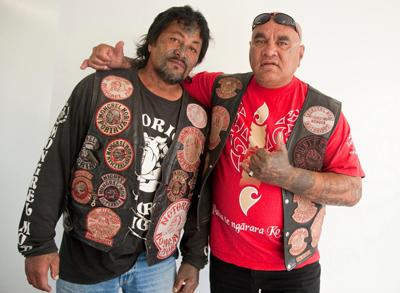 Roy Dunn (left) and Edge Te Whaiti