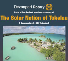 "NZ premiere of ""The Solar Nation of Tokelau"""