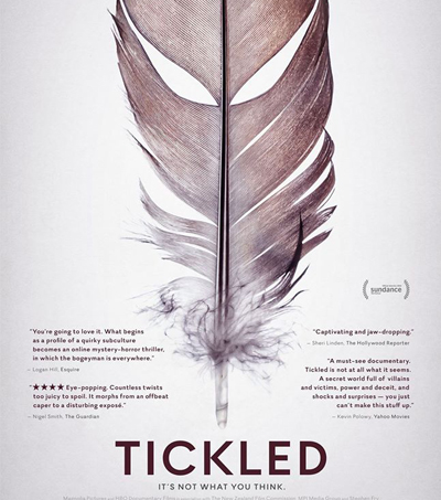 "Tickled: ""Compelling, Enthralling and Very Entertaining"""