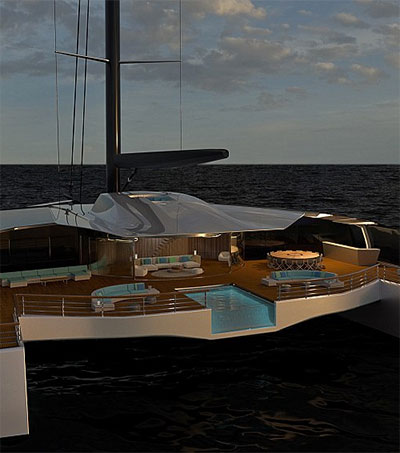 Isaac Burrough Concept Catamaran a Luxury Statement