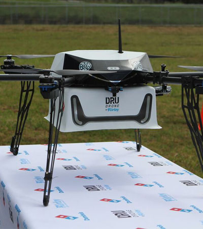 Drones Delivering Domino's Pizzas To Customers