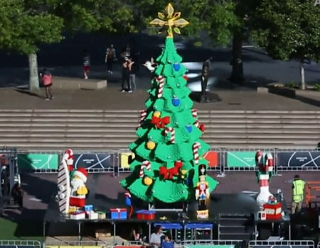 Auckland's Lego Christmas Tree