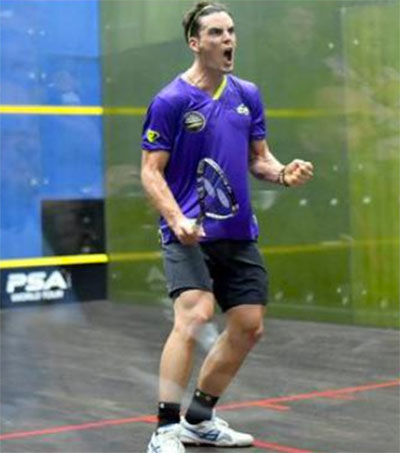 Squash Player Paul Coll Wins Career Best