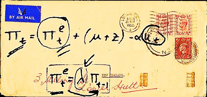 envelope for Milton Friedman