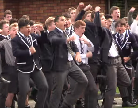 Palmerston North Boys High School Powerful Haka