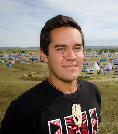 Kingi Snelgar on Spending Time at Standing Rock