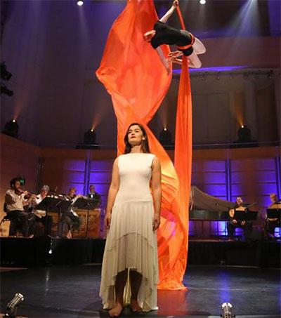 Soprano Natasha Wilson Sings With Acrobats