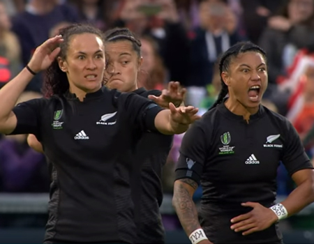 HAKA! New Zealand Perform Haka After Winning the Women's Rugby World Cup