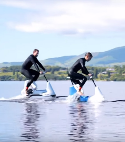 Manta5 Pedal-Electric Hydrofoil Takes To The Lake – Or Sea