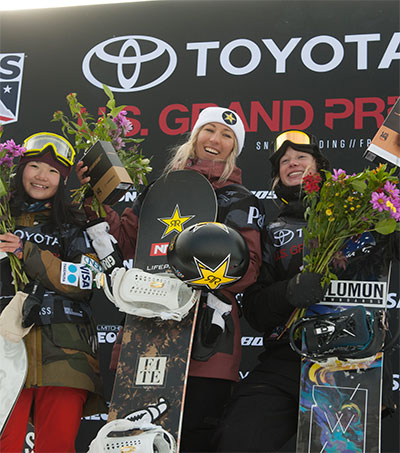 Christy Prior Wins Snowboard Slope in Aspen