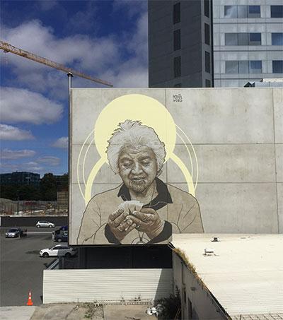 Mural of Whero O Te Rangi Bailey Explained