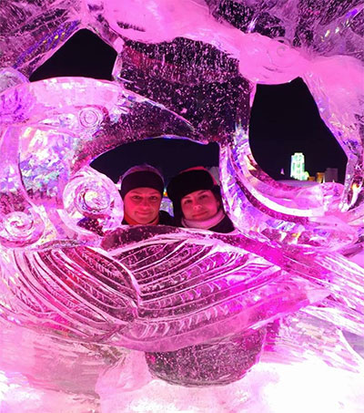 Ice Sculptor Tatiana Zimina Competes in China