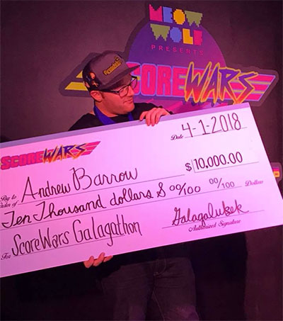 Gamer Andrew Barrow Wins Score Wars in Santa Fe