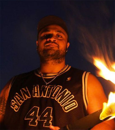 Fire Spinner Hale Wilson Showcases Moves in Darwin