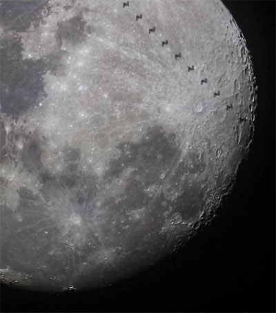 Rare ISS Moon Shot Captured by Josh Kirkley