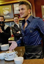 Peter Andre's flat white