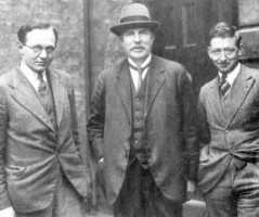 Ernest Walton, Ernest Rutherford and John Crockroft, 1932. Permission: www.corbis.com