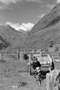 A young Baxter in front of Mt. Aspiring
