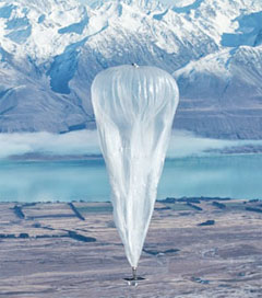 Internet Giant Launches Balloon Connection over Canterbury
