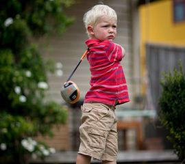 Toddler's Golf Swing a Match for Tiger's