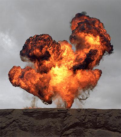 Explosive Photographs Part of a Cinematic Language