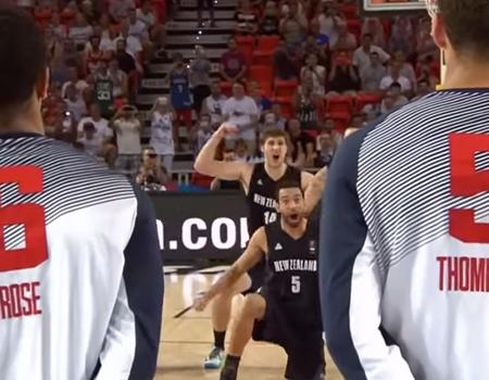 Team USA Very Confused by New Zealand Haka Dance