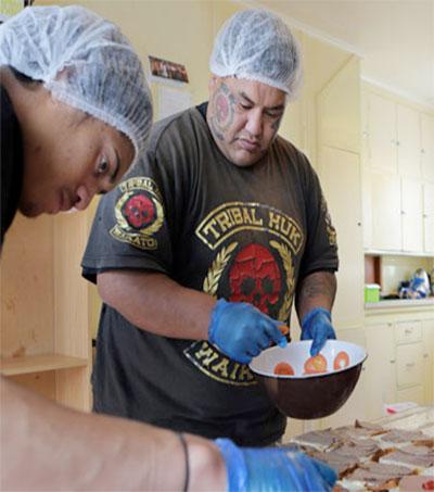 Waikato Gang Tribal Huks Feeding Hungry Kids